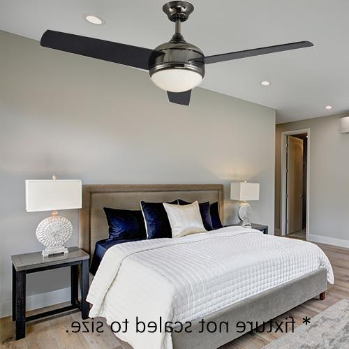 """Modern 3-Blade 52"""" Finish Ceiling Fan with Black"""