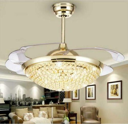 Modern Crystal Invisible Ceiling Remote