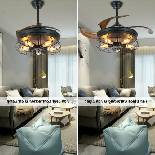 Ceiling Fan Industrial Retractable Cage +RC