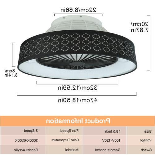 Modern Dimmable LED Flush Mount Remote