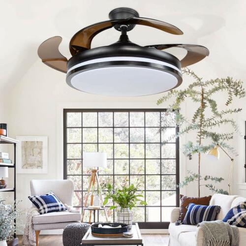 "42"" Modern Ceiling Fan with LED Light Decor 3 speed control"