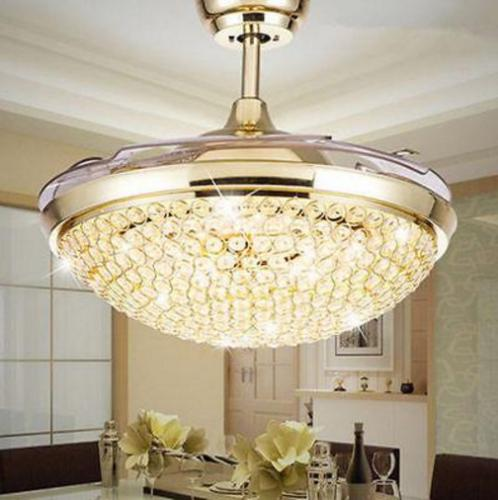 """42"""" LED Invisible Ceiling Fan Light Modern"""