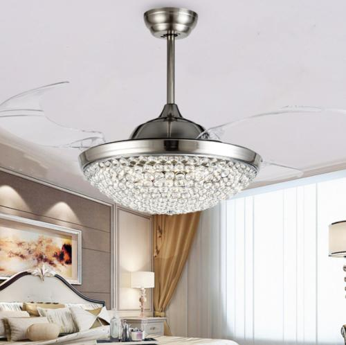 """Modern Invisible Light 42"""" LED Crystal Chandelier Lamp Fixture"""