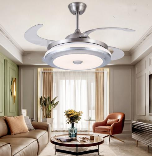 modern invisible ceiling fan light led chandelier
