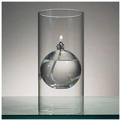 The Modern Transcend Clear Glass Oil Lamp is a Unique Gift f