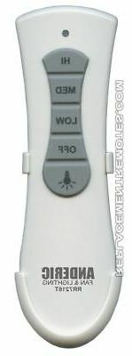 NEW ANDERIC Ceiling Fan Remote Control Slim Style RR7216T fo