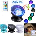 Ocean Wave Projector Lamp LED Night Light Music Player With