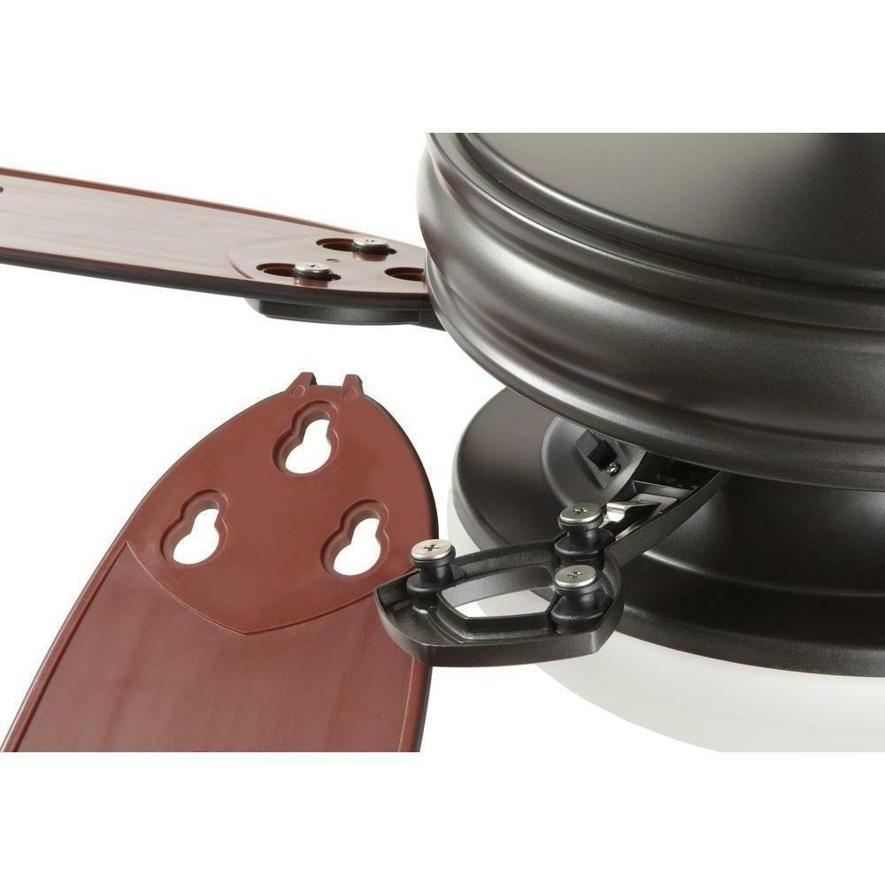 Home Decorators Collection 52 In Ceiling Light Kit Black Iron