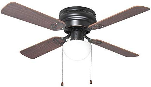 Oil Rubbed Bronze 42-Inch Hugger Ceiling Fan