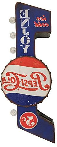 Pepsi Cola Sign, Officially Licensed, Illuminated By Battery