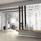 Room Divider PVC Hanging Screen 12 Pcs White Modern Decorati