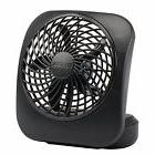 "5"" Portable Black O2Cool Battery Operated Fan"