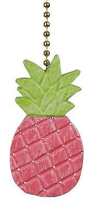 Clementine Designs Pretty in Pink Pineapple Ceiling Fan Ligh