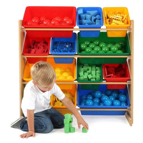 Primary Natural Organizer with 12 Plastic Multi Color
