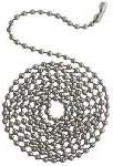 Westinghouse 7704900 3' Stainless Steel Beaded Chain With Co