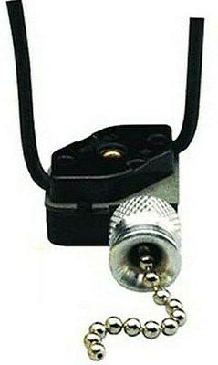 Leviton 10097-8 Pull Chain Switch, Single Pole On-Off; 1A-12