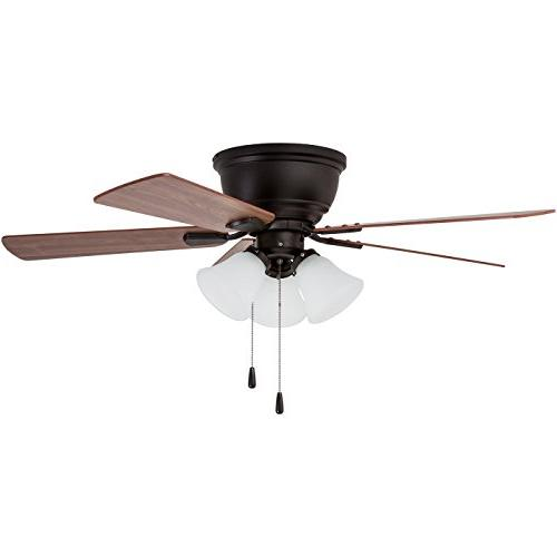 Prominence Home Ridge Low-Profile Ceiling Fan with LED White Light, inches, Flush Mount, Blades,