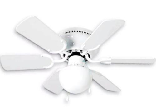 """Small 30"""" Kids Ceiling White Light 6 Blade Mount Low Ceiling"""