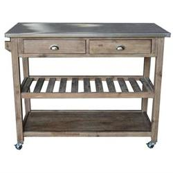 Sonoma Kitchen Island with Stainless Steel Top