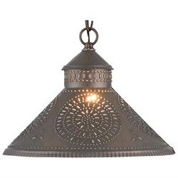 Stockbridge Shade Light Pendant with Chisel in Kettle Black