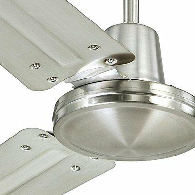 Three-Blade Brushed with Brushed Nickel Steel 56-Inch*