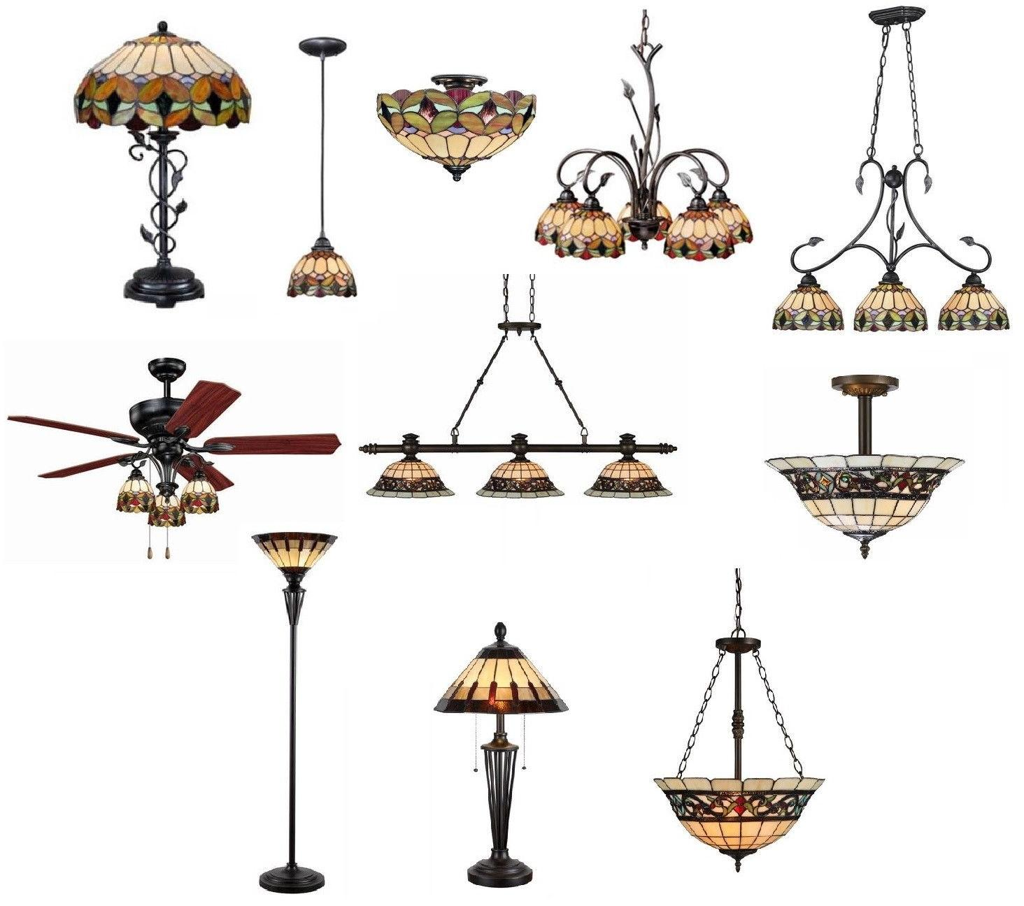 Tiffany Style Stained Glass Billiard Pendants, Ceiling Light