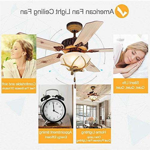 Tropicalfan Rustic Fan With 1 Light Indoor Home Living Room Antlers Silent Industrial Fans Blades Inch