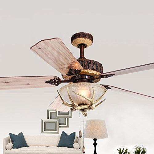 Tropicalfan Ceiling With Light Indoor Room Antlers Silent Fans Chandelier Wood Blades Inch