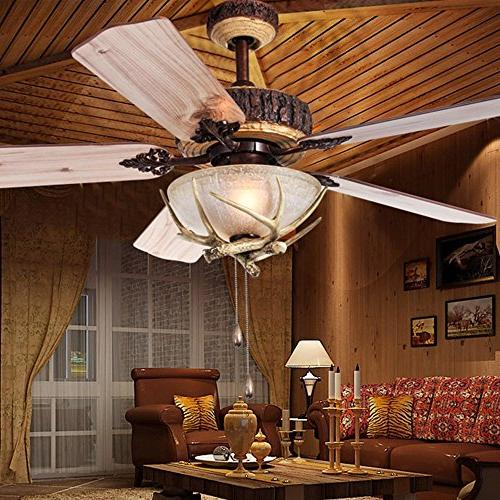 Tropicalfan Rustic With 1 Indoor Home Decoration Living Room Silent Fans Chandelier Blades Inch