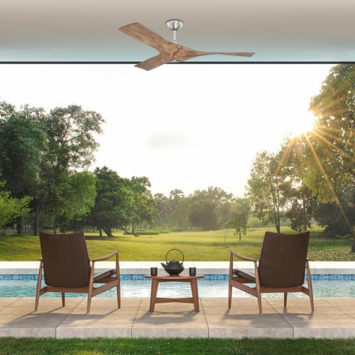 Wesley 52 Brushed Ceiling Fan with