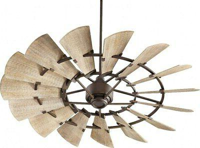 "Quorum Lighting Windmill 60"" Oiled Bronze Ceiling Fan NEW"
