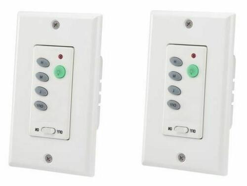Wireless Ceiling Fan and Light Wall Control