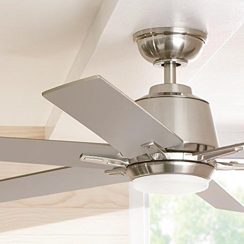Home YG493A-BN Kensgrove 54 in. Integrated LED Indoor Ceiling Fan Kit and