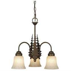 Yosemite 3 Light Chandelier, Bronze, Mini Chandelier, 3, Whi