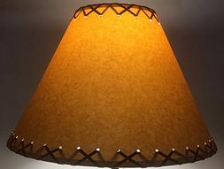 14 Inch Rustic Laced Lamp Shade.....Click on Photos to View