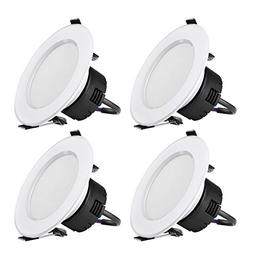 LE 4 Pack 8W 3.5-Inch LED Recessed Lighting, 75W Halogen Bul