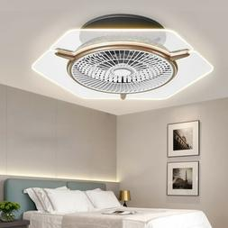 Ceiling Fan With Lamp LED Dimmable Ceiling Light Adjustable