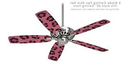 Leopard Skin Pink - Ceiling Fan Skin Kit fits most 42 inch f