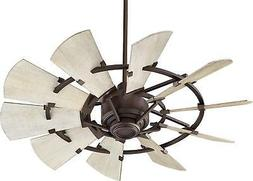 "Quorum 94410-86 Windmill 44"" Ceiling Fan with Wall Control,"