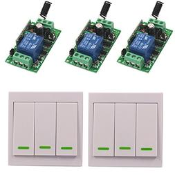 LED Lights Lamp 12V 10A 3 Way Wireless Wall Remote Switch Tr