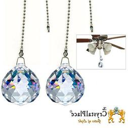 Magnificent Crystal Clear 40mm Ceiling Fan Pull Chain Cabin