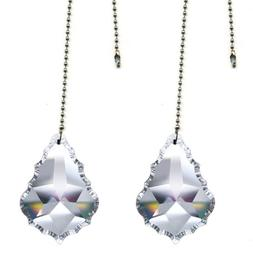 """Magnificent crystal 2"""" Clear Crystal Pendeloque Prism, 2 Pcs"""