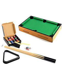 Mini Table Top Pool Table and Accessories 18 x 11 x 3 Inches