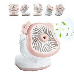 Misting Personal USB Cooling Desk Fan, Humidifier Mist Water