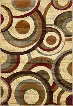 Modern Contemporary All Décor Floor Rugs Beige 4' x 6' Camd