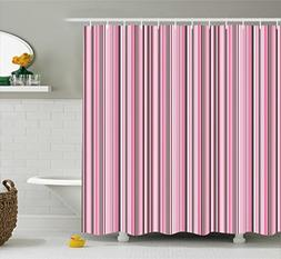 Modern Decor Shower Curtain by Ambesonne, Abstract Retro Vin