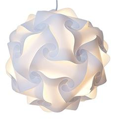 Modern Lamp Puzzle Shade White Large Led Light Not Included