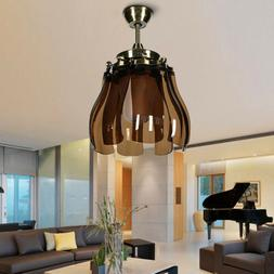 Modern Style Foldable LED Ceiling Fan Light w/ Remote Contro