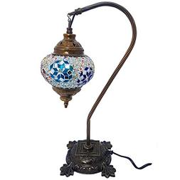 Mosaic Table Lamp, 16.5 inches height ,Desk Light, Boho Lamp
