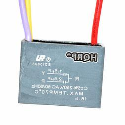 Motor Ceiling Fan Capacitor CBB61 1.5uf+2.5uf 3-Wire Rated V